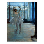 Edgar Degas   Dancer in Front of a Window Postcard