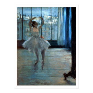 Edgar Degas | Dancer in Front of a Window Postcard