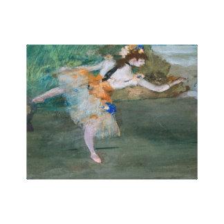 Edgar Degas - Dancer Onstage Canvas Print