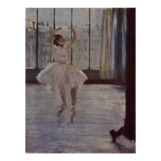 Edgar Degas - Dancer @ Photographer 1877-78 oil Poster