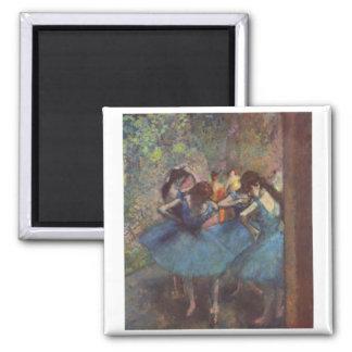 Edgar Degas - Dancers 1890 Ballet Girls oil canvas Square Magnet