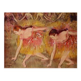 Edgar Degas Dancers Bending Down Postcard