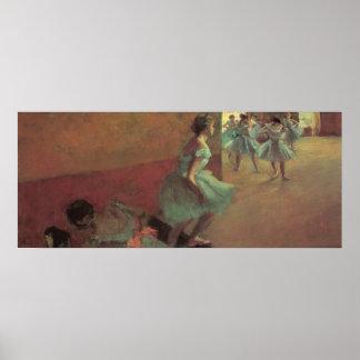 Edgar Degas Dancers Climbing A Stair Poster