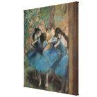 Edgar Degas   Dancers in blue, 1890 Canvas Print