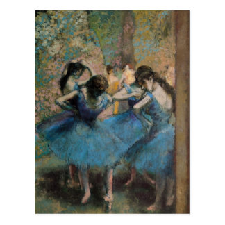 Edgar Degas   Dancers in blue, 1890 Postcard