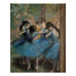 Edgar Degas | Dancers in blue, 1890 Poster