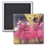 Edgar Degas - Dancers in pink between the scenes Magnets