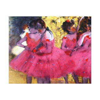 Edgar Degas Dancers in Pink Canvas Print