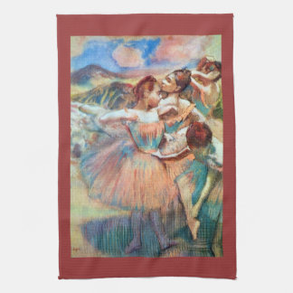 Edgar Degas - Dancers in the landscape Kitchen Towel