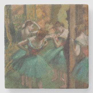 Edgar Degas Dancers Pink and Green Coaster