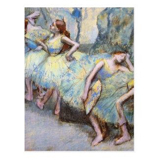 Edgar Degas Danseuses dans les coulisses Postcard