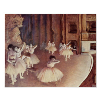 Edgar Degas - Dress rehearsal of ballet stage Poster