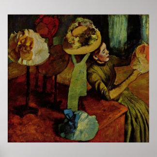 Edgar Degas - Fashion Product 1885 Woman Hat Poster