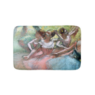 Edgar Degas | Four ballerinas on the stage Bath Mat