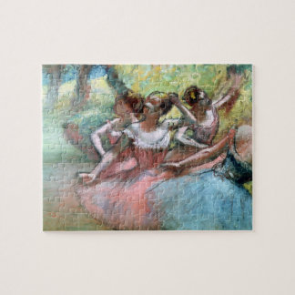 Edgar Degas | Four ballerinas on the stage Jigsaw Puzzle