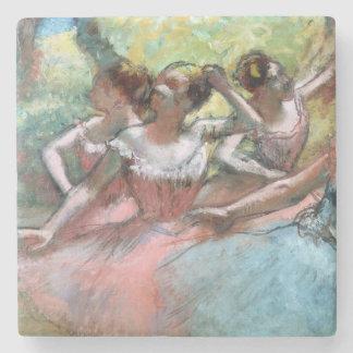 Edgar Degas | Four ballerinas on the stage Stone Coaster