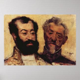 Edgar Degas - General Mellinet & Chief Rabbi 1871 Posters