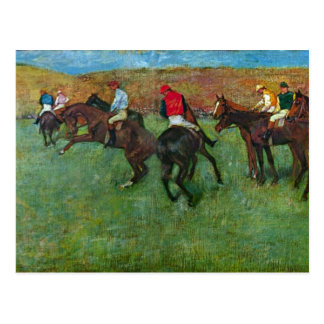 Edgar Degas - Horse racing before starting Postcard