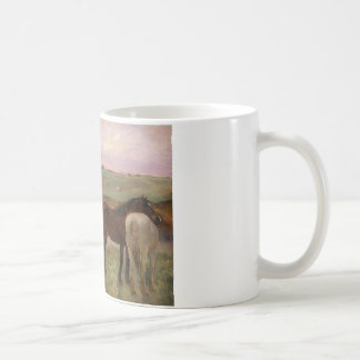 Edgar Degas - Horses in a Meadow Coffee Mug