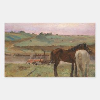 Edgar Degas - Horses in a Meadow Sticker
