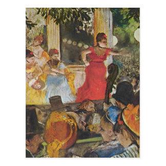 Edgar Degas - In concert cafe (Les Ambassadeurs) Postcard