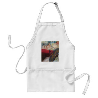Edgar Degas - In the Theatre Theater Fan Dancers Adult Apron