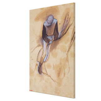 Edgar Degas   Jockey flexed forward standing Canvas Print