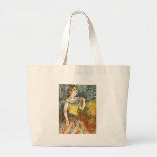 Edgar Degas La Chanteuse verte Large Tote Bag