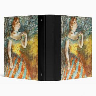 Edgar Degas La Chanteuse verte Vinyl Binders