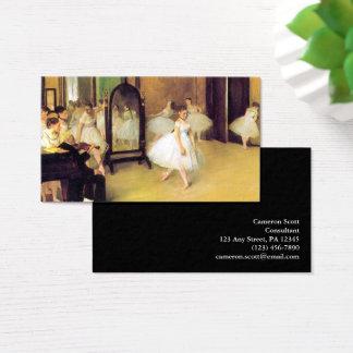 Edgar Degas   la classe de danse Cartes De Visite
