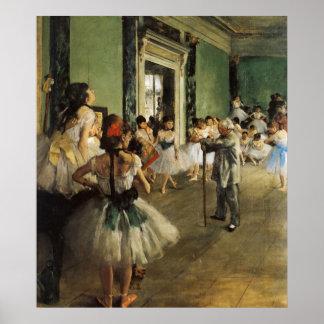 Edgar Degas La Classe de Danse Poster