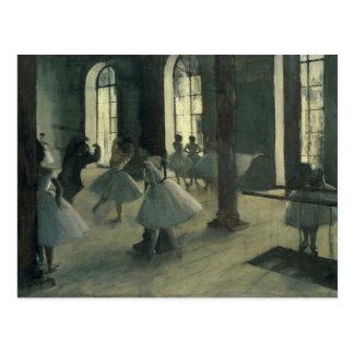 Edgar Degas - La Répétition au foyer de la danse Postcard
