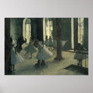 Edgar Degas - La Répétition au foyer de la danse Poster