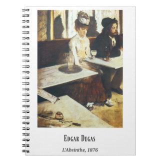 Edgar Degas, L'Absinthe, Fine Art Painting Notebook