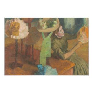 Edgar Degas - le magasin d'articles de modes Impression Photo