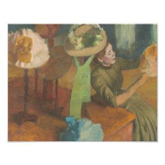 Edgar Degas - le magasin d'articles de modes Photo D'art