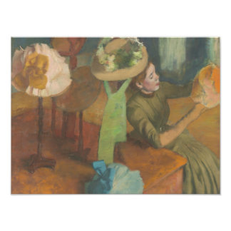 Edgar Degas - le magasin d'articles de modes Tirage Photo