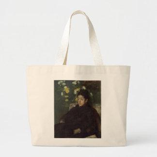 Edgar Degas' Mademoiselle Malo Large Tote Bag