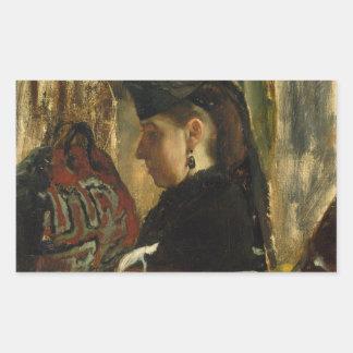 Edgar Degas - Mademoiselle Marie Dihau (1843–1935) Sticker