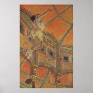 Edgar Degas - Ms Lala Circus Fernando 1879 trapeze Posters