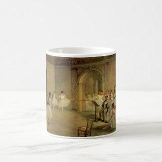 Edgar Degas - Opera Ballet Hall Rue Peletier 1872 Basic White Mug
