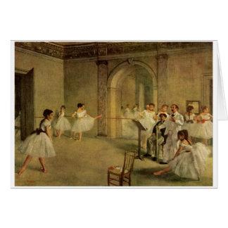 Edgar Degas - Opera Ballet Hall Rue Peletier 1872 Greeting Card