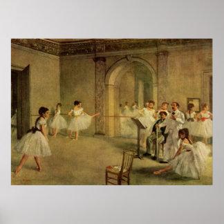 Edgar Degas - Opera Ballet Hall Rue Peletier 1872 Poster