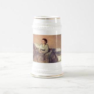 Edgar Degas - Portrait Madame Rene de Gas 1872-73 18 Oz Beer Stein