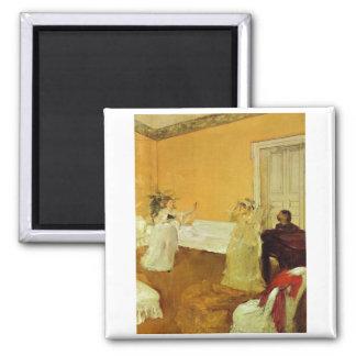 Edgar Degas - Portrait Marcellin Desboutin 1872-73 Square Magnet