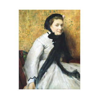 Edgar Degas Portrait of a Woman in Gray Canvas Print