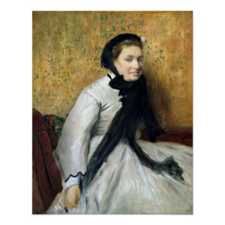 Edgar Degas Portrait of a Woman in Gray Poster