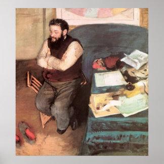 Edgar Degas Portrait of Diego Martelli Poster