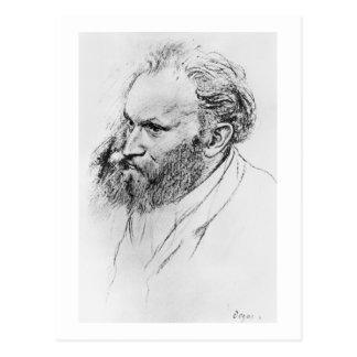 Edgar Degas   Portrait of Edouard Manet  Postcard