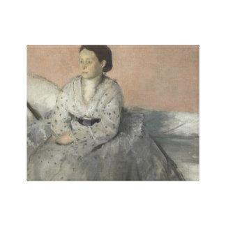 Edgar Degas - Portrait of Madame Rene de Gas Canvas Print